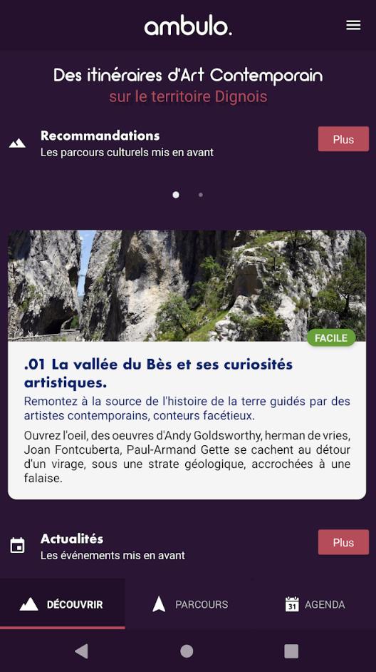 Ambulo - Application Android - Parcours touristiques et culturels